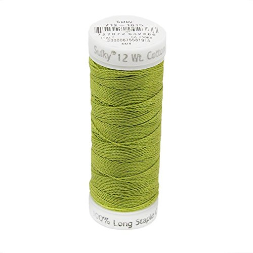 - Sulky Of America 12wt Cotton Petites Thread, 50 yd, Japanese Fern