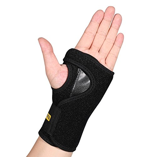 Thumb Clamp Two Position (Wrist Support Brace for Keyboard, Carpal Tunnel Splint Fits Left Hand Neoprene Made for Arthritis, Tendonitis, Sprains, RSI One Size Black)