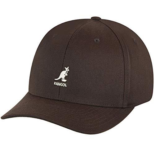 Kangol Sport Collection Men's Wool Flex-Fit Baseball Cap, Brown, - Cap Fit Baseball