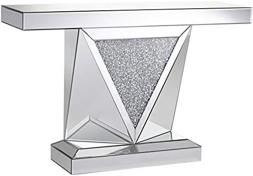 Milla 47 1 2 Wide Geometric-Cut Mirrored Console Table – Studio 55D