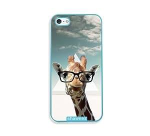 Hipster Giraffe Geek Glass Aqua Plastic Case For Htc One M9 Cover - Fits Case For Htc One M9 Cover