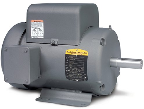Baldor Electric Company L3605T-50 - General Purpose Motor - 1 ph, 2 hp, 1500 rpm, 110/220 V, 182T Frame, TEFC Enclosure, 50 Hz, Foot Mount ()