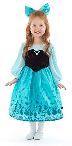 Little Adventures Mermaid Day Dress Costume with Hairbow (Medium Age 3-5) -