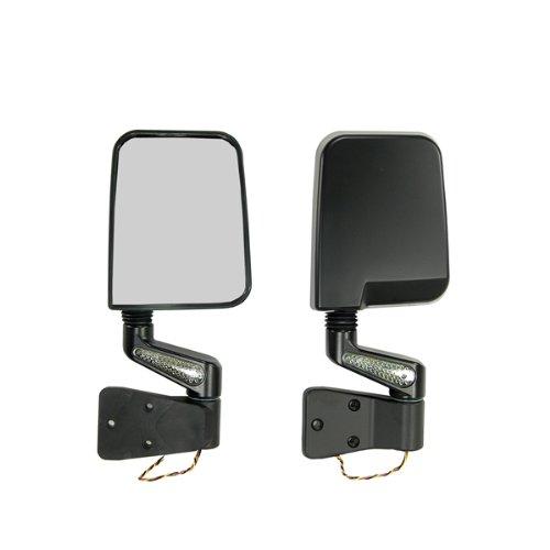 Rugged 11015.01 Black LED Mirror - Pair