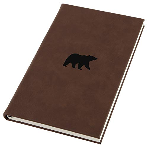 (Grizzly Bear Engraved A5 Leather Journal, Notebook, Personal Diary)