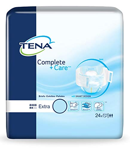 Tena Brief Complete + Care Tab Closure Extra Large Disposable Moderate Absorbency Case of 72 ()