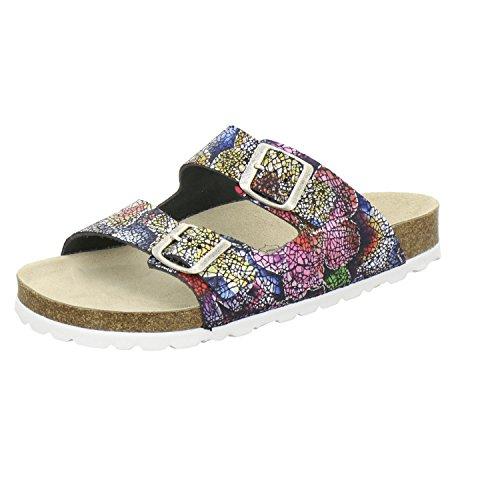 AFS-Schuhe 2100, Sportliche Damen-Pantoletten, Praktische Arbeitsschuhe, Hochwertiges, Echtes Leder Multicolor