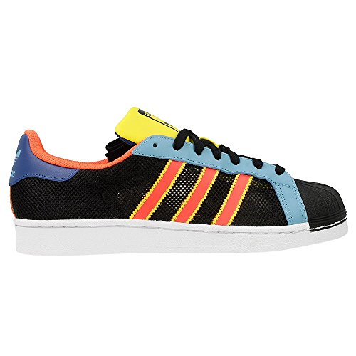 adidas Men's Superstar Low-Top Sneakers, Blue, 5 UK Black