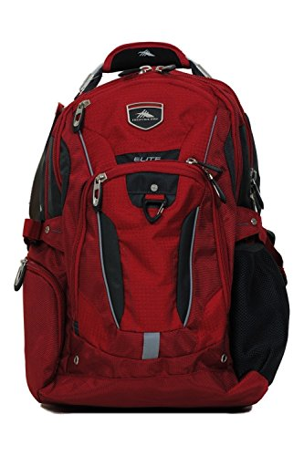 High Sierra Business Elite Backpack Red Fits 17'' Laptop with Tablet Storage & Suspended Back Panel (Elite Business Pen)