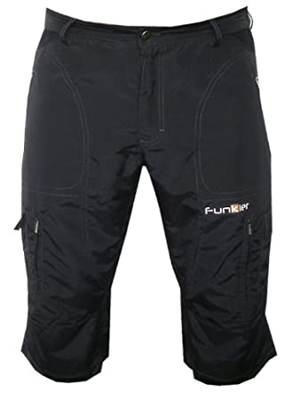 Amazon.com: Funkier Bike Men's 3/4 Baggy Mountain Bike Shorts ...