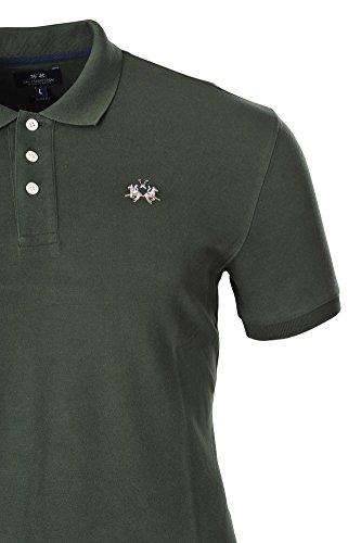 La Martina Polo Poloshirt Einfarbig Grün 3XL