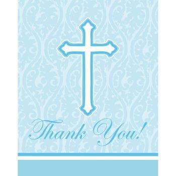 Faith Blue Thank You Cards 8 Per Pack