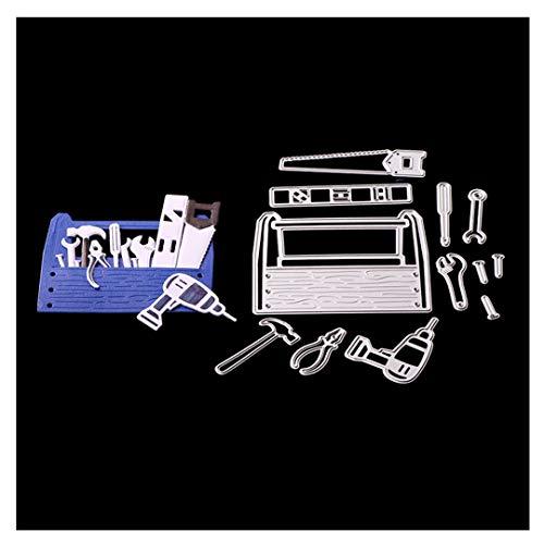 Cutting Dies,Pollyhb Metal Cutting Dies Stencils Scrapbooking Embossing DIY Crafts,Light Tool Cabinet Box,for Card Making Scrapbooking (C)