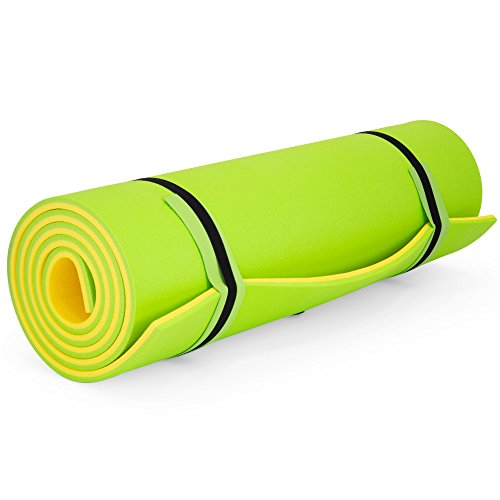 Best Choice Products 18ft Floating Foam Play Mat Lounger Mattress for Pool Party, Lake, River, Water Recreation - Lime