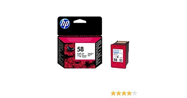 HP C6658AE - Cartucho original Nº58 para foto, color: Amazon.es ...