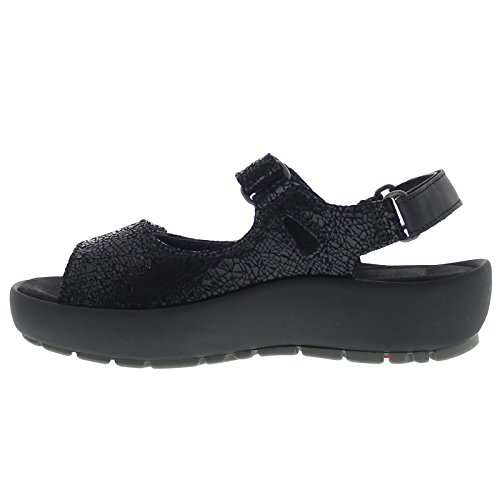 Wolky Womens 3325 Rio Leather Sandals Black