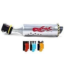 tubo de escape para bicicleta