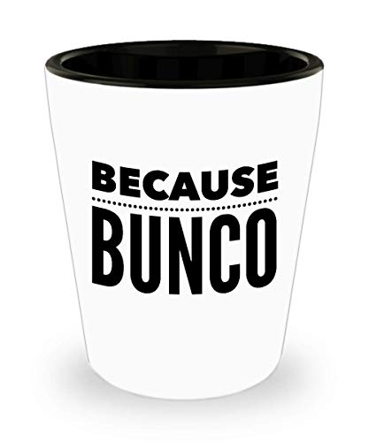 Bunco Gifts Under 10 Dollars $10 Player Fun Gag Drinking Prize Party Idea Shot Glass -