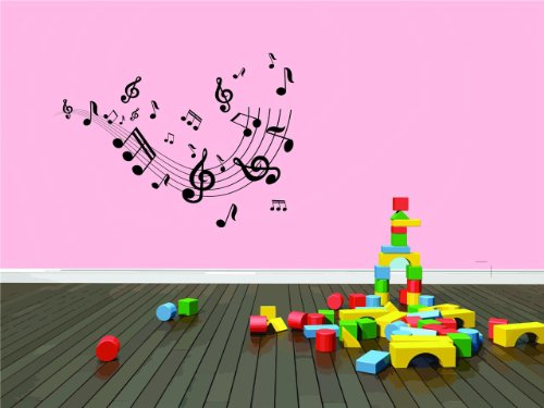 Top Selling Decals - Prices Reduced : Music Notes Musical Decor Child Teen Dorm Room Bedroom Artist CD Albums Wall - Best Selling Cling Transfer Picture Art Graphic Design Color 516 Size : 20 Inches X 30 Inches - Vinyl Wall Sticker - 22 Colors Available