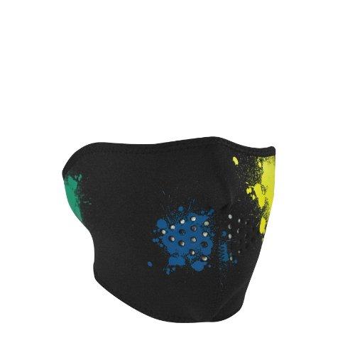 ZANheadgear Neoprene 'Splatter' Design Glow in the Dark Half Mask (Multicolor, One Size)