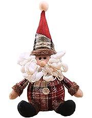 Kerstman Kerstpop Kleurrijke Vrolijke Kerstversieringen voor Thuis Kerstboom Vakantie Ornamenten Senior Multicolor 12x28cm (Senior)