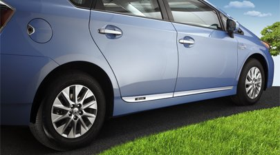 2012 Toyota Prius Plug In Lower Door Moldings FINISH Satin & Amazon.com: 2012 Toyota Prius Plug In Lower Door Moldings FINISH ...