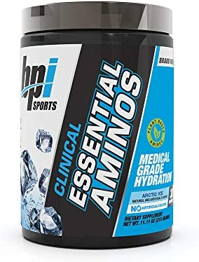 BPI Sports Clinical Essential Aminos, Keto Friendly, Essential Amino Acids eaas , Recovery, Muscle Growth, Hydration, Arctic Ice, 30 Servings, 11.11 Oz