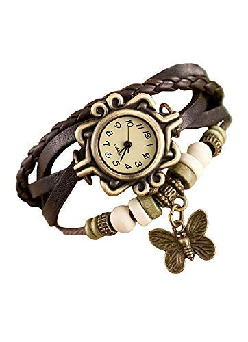 Amazon price history for A K Collection Analogue Butterfly Design Watch for Girls & Woman (Brown)
