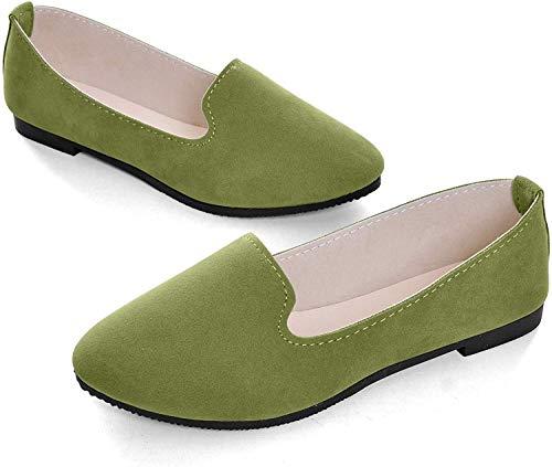 ZTWUTANG Stunner Women's Cute Round-Toe Flat Ballet Shoes Comfortable Dress Shoes