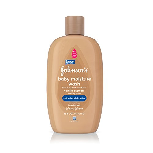 Johnson's Baby Vanilla Oatmeal Hair And Body Wash, 15 Fl. Oz. (Pack of 6)
