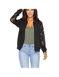 Susenstone Womens Long Sleeve Lace Blazer Suit Casual Jacket Coat Outwear
