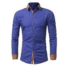 WM&MW Men Shirt Fashion Casual Long Sleeve Button Slim Fit Business Shirt Male Lapel Blouse Tops