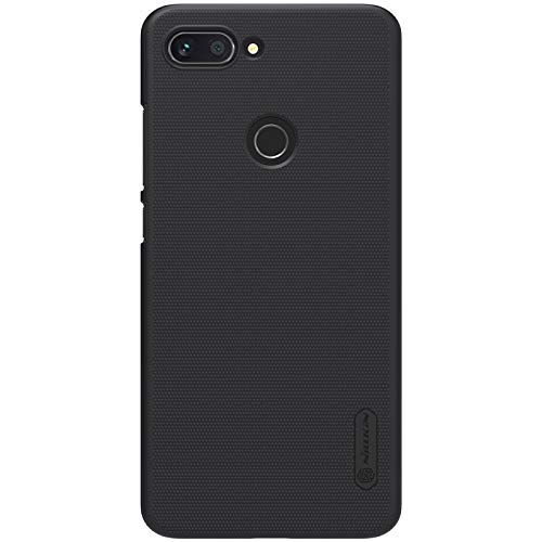 for xiaomi mi 8 Lite Case,Nillkin [with Kickstand] Frosted Shield Anti Fingerprints Hard PC Case Back Cover for xiaomi mi8 Lite -Retail Package (Black)