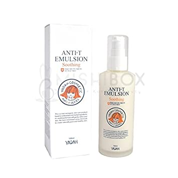 YADAH Anti-T Emulsion 100ml K-Beauty for Acne and Troubled Skin Sun Care Ultra Soothing Protection (Delicate Skin) SPF50 4.2oz