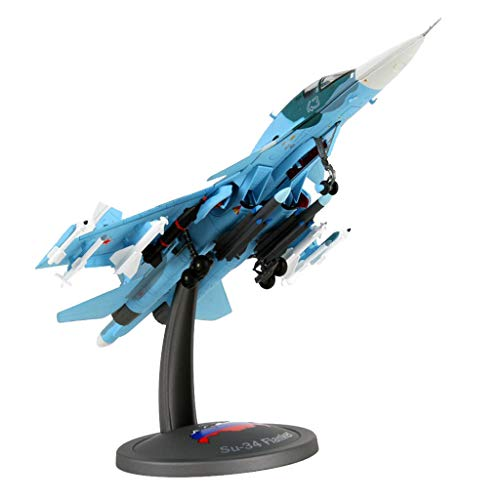 CUTICATE Russia Airforce Su 34 Jet Fighter Airplane Diecast Model 1/72 Collectibles