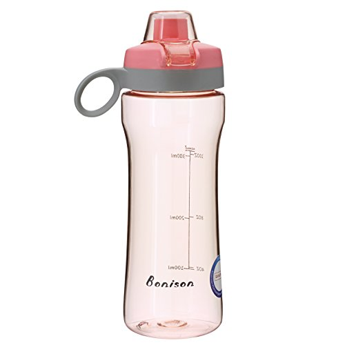 BONISON 14 OZ Kids Water Bottle With Flip Top Lid Leak Proof Bpa Free Drinking Water Bottle For School Running Outdoor Cycling And Camping Perfect Size For (Easy Halloween Finger Foods)