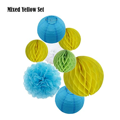 Wordery 8Pcs 15Cm/25Cm Blue Set Honeycomb 8