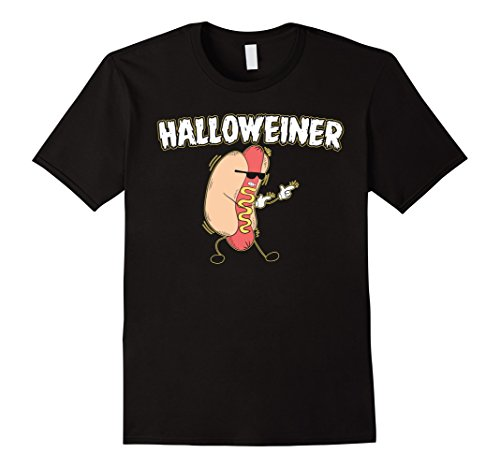 Mens Funny Halloweiner Halloween Hot Dog Tshirt Outfit Large (Hot Halloween Outfit)