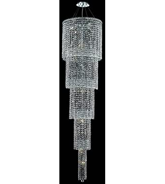 Pendants 22 Light With Chrome Finish Spectra Swarovski E12 Bulb 22 inch 1320 Watts - World of Classic