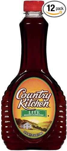 Country Kitchen Syrup Lite 24 Ounce Pack Of 12