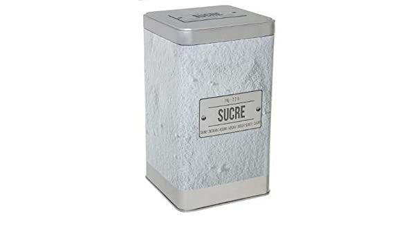 A.K TRADING - Caja metálica para azúcar en Polvo: Amazon.es: Hogar