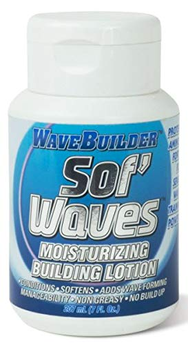 Building Lotion - WaveBuilder Sof' Waves Moisturizing Building Lotion | Conditions, Softens Hair to Promote Hair Waves, 6.3 fl oz