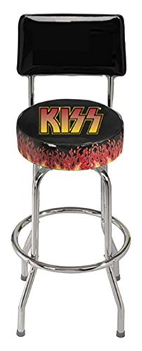 REGAL 2105 KISS bar Stool with Back, Black