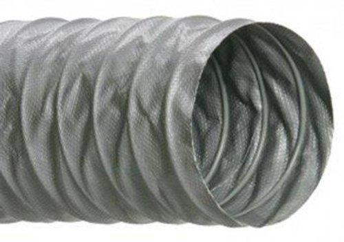 Hi-Tech Duravent M-KC Thermaflex Series Fiberglass Thermaflex Air/HVAC Duct Hose, Silver, 4'' ID, 25' Length by Hi-Tech Duravent (Image #1)