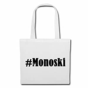 Tasche#MonoskiGröße38x42FarbeWeissDruckSchwarz