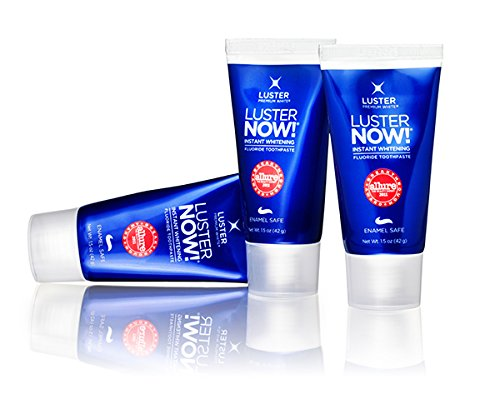 Luster NOW! Instant Whitening Toothpaste, 3 Pack, Net Wt. 4.