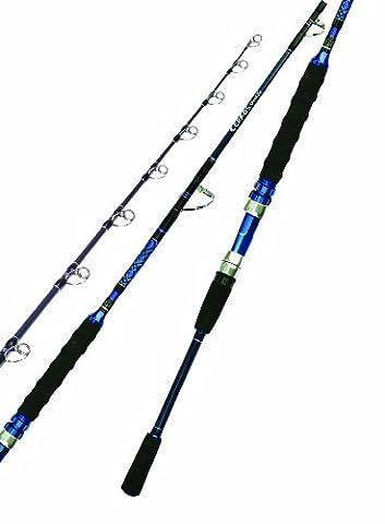 Okuma CJ-S-601M 6-Foot Cedros Jig Spinning Rod, Medium Action, 30 to 60-Pound Braided Line Weight, Black Finish