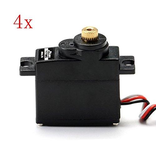 4 PCS JX PDI-1171MG 17g Metal Gear Core Motor Micro Analog Servo for RC Models