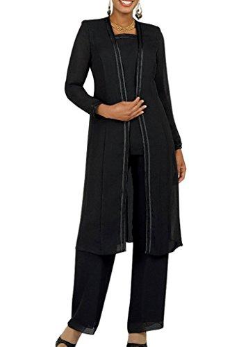 3 Piece Black Pant Suit - 3