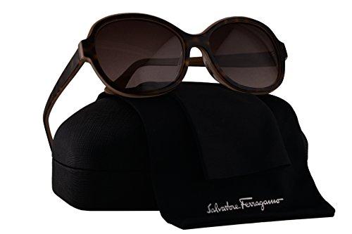 Salvatore Ferragamo SF745SA Sunglasses Havana Beige w/Brown Gradient Lens 222 SF - San In Francisco Sunglasses